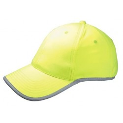 Casquette 6 pans fluo Safety