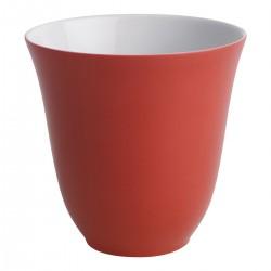 COFFRET 2 TASSES MOKA 7 CL COULEUR ROUGE BAISER