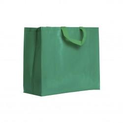 Sac shopping PP anses courtes vert vif