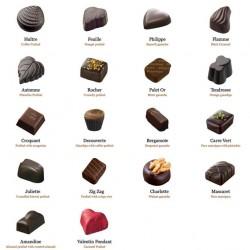 BALLOTIN 18 CHOCOLATS NOIRS SANS ALCOOL