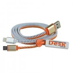 Cable de chargement USB zippé FUNZIP