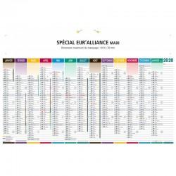 BANCAIRE SPECIAL EURALLIANCE MAXI 43 x 65 CM VERSO 3 CARTES