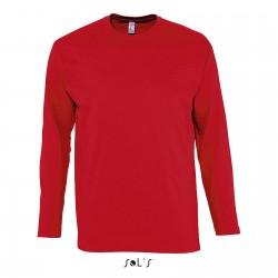 Tee-shirt manches longues homme semi-peigné 150 g couleur