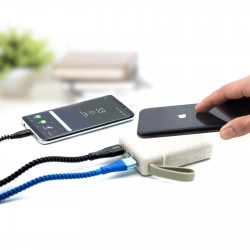 Batterie 5000 mAh / chargeur à induction 5 W paille de blé Neeper