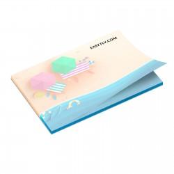 Bloc papier repositionnable rectangle 10 x 7,2 cm 50 feuillets