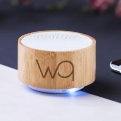Mini enceinte Bluetooth® bambou Romie