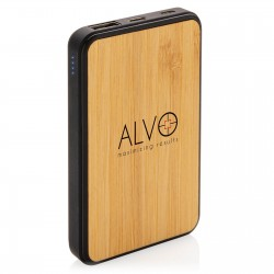 Batterie de secours bambou Livéa 5000 mAh