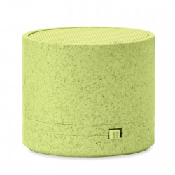 Mini enceinte Bluetooth® paille de blé Roundy
