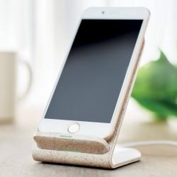 Support téléphone chargeur à induction paille de blé Bang