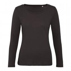 Tee-shirt manches longues femme Bio 140 g couleur