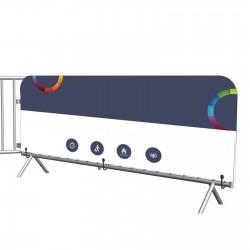 Visuel barrière 80 x 250 cm spandex 260g