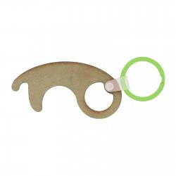 Porte-clés sans contact en bois Cessy