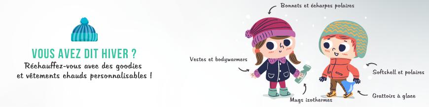Collection Hiver : goodies et vêtements publicitaires