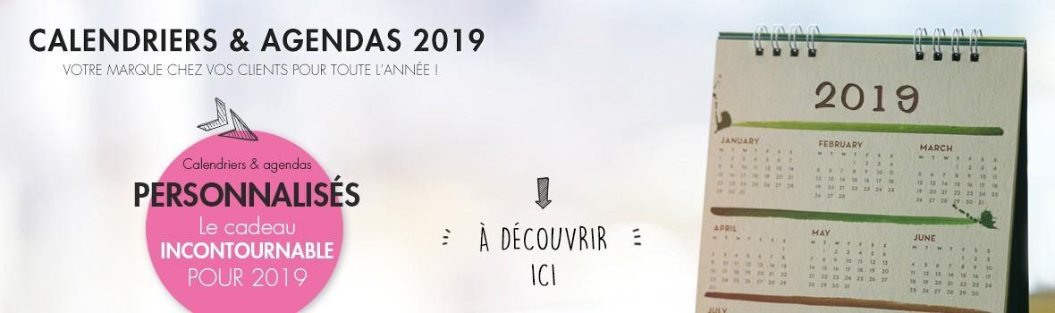 calendriers et agendas 2019 publicitaires personnalisés